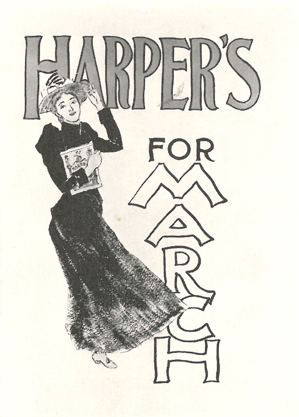 poster by edward penfield for harpers new monthly magazine march 1893